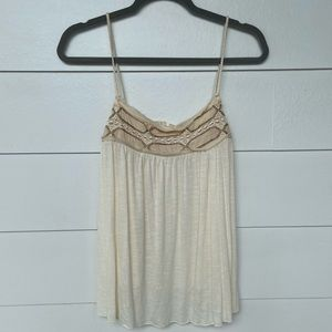 American Eagle Embroidered Lace Tank Top XL